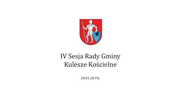 IV sesja Rady Gminy -28 stycznia 2019r.