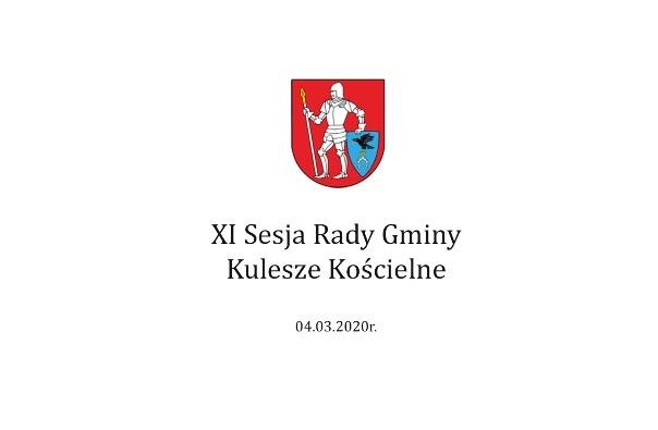 XI sesja Rady Gminy – 4 marca 2020 r.