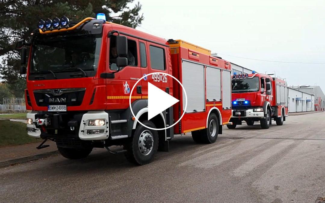 Nowe samochody OSP Kulesze Kościelne – film