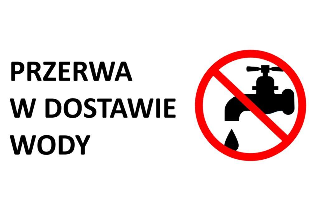 Komunikat przerwa w dostawie wody w miejscowości Czarnowo Biki!