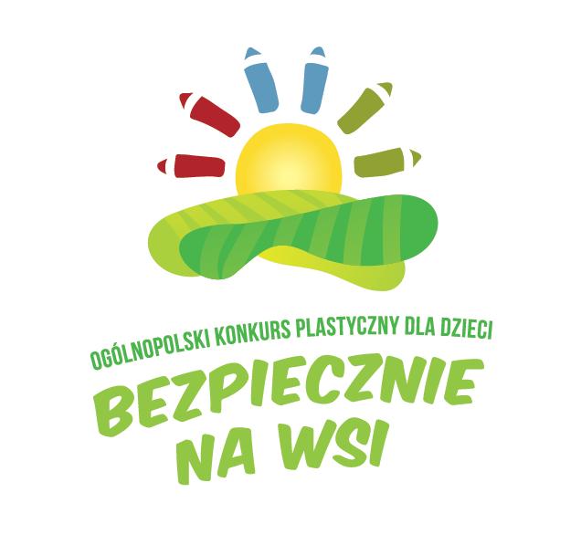 """XI edycji Ogólnopolskiego Konkursu Plastycznego dla Dzieci """"Bezpiecznie na wsi mamy – od 30 lat z KRUS wypadkom zapobiegamy""""."""