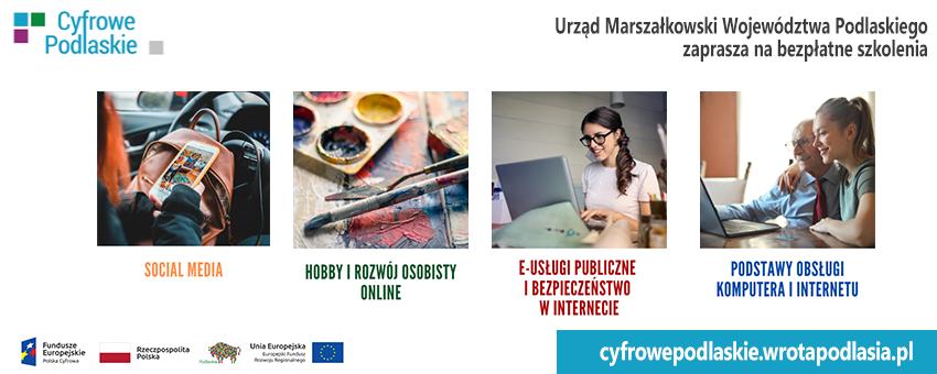 Bezpłatne szkolenia dla mieszkańców województwa podlaskiego.