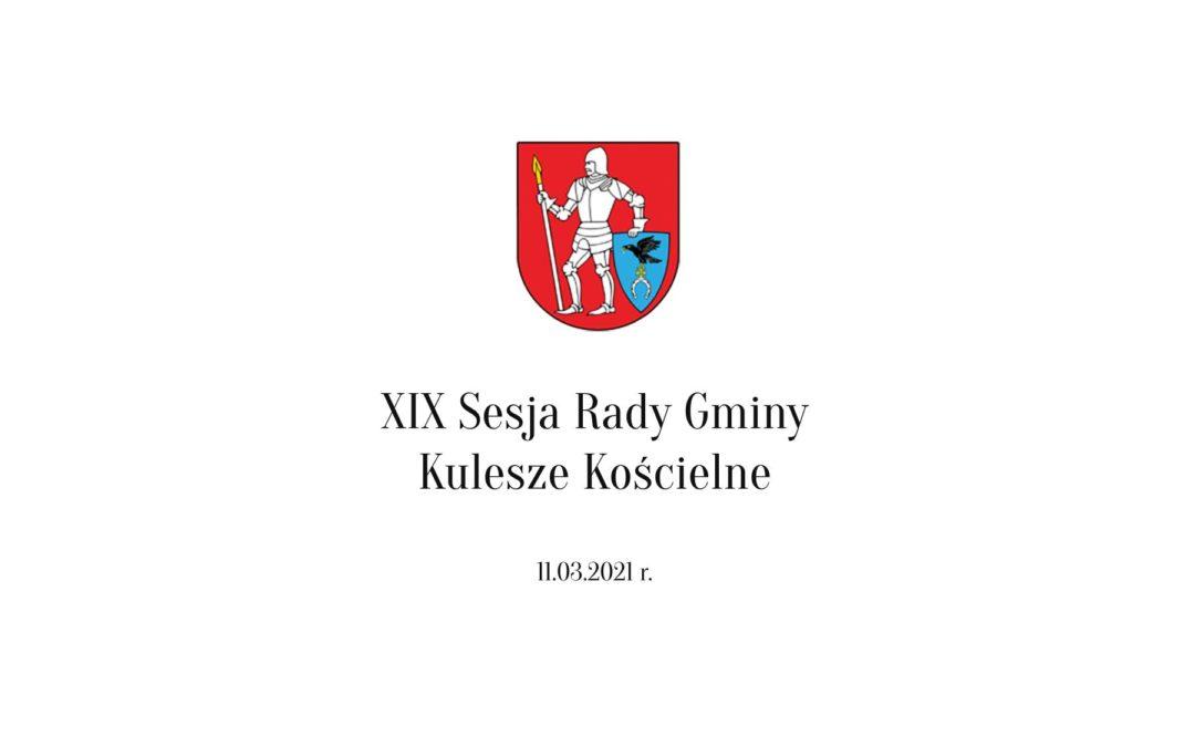 XIX Sesja Rady Gminy